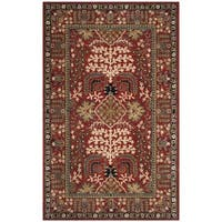 Safavieh Antiquity Traditional Handmade Red/ Multi Wool Rug (3' x 5')