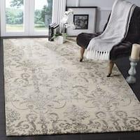 Safavieh Hand-Woven Bella Contemporary Ivory/ Grey Wool Rug - 3' x 5'