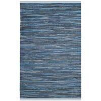 Safavieh Hand-Woven Rag Cotton Rug Blue/ Multicolored Cotton Rug - 3' x 5'