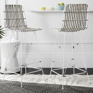 Safavieh 43.3-inch Minerva Wicker White Wash Bar Stool