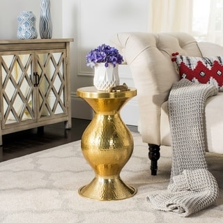 Safavieh 22-inch Janus Hammered Antique Brass Stool