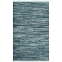 Safavieh Hand-Woven Rag Cotton Rug Turquoise/ Multicolored Cotton Rug - 3' x 5'