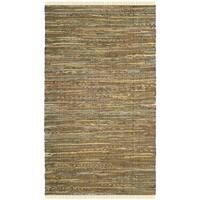 Safavieh Hand-Woven Rag Cotton Rug Yellow/ Multicolored Cotton Rug - 3' x 5'