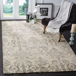 Safavieh Hand-Woven Bella Contemporary Ivory/ Grey Wool Rug (8' x 10')