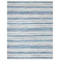Safavieh Hand-Woven Rag Cotton Rug Ivory/ Blue Cotton Rug - 8' x 10'