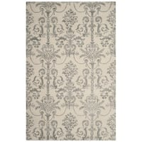 Safavieh Hand-Woven Bella Contemporary Ivory/ Grey Wool Rug - 2' x 3'