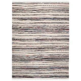 Safavieh Hand-Woven Rag Cotton Rug Ivory/ Charcoal Cotton Rug (2' 6 x 4')