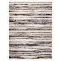Safavieh Hand-Woven Rag Cotton Rug Ivory/ Charcoal Cotton Rug - 2'6 x 4'