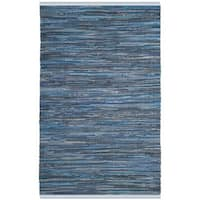 Safavieh Hand-Woven Rag Cotton Rug Blue/ Multicolored Cotton Rug - 2'6 x 4'