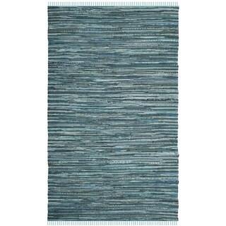 Safavieh Hand-Woven Rag Cotton Rug Turquoise/ Multicolored Cotton Rug (2' 6 x 4')