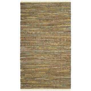 Safavieh Hand-Woven Rag Cotton Rug Yellow/ Multicolored Cotton Rug (2' 6 x 4')