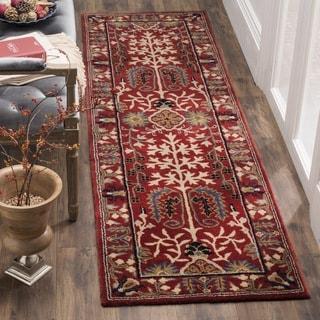Safavieh Antiquity Traditional Handmade Red/ Multi Wool Runner (2' 3 x 8')