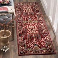 Safavieh Antiquity Traditional Handmade Red/ Multi Wool Runner Rug
