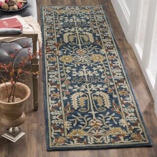 Safavieh Antiquity Traditional Handmade Dark Blue/ Multi Wool Runner (2' 3 x 8')