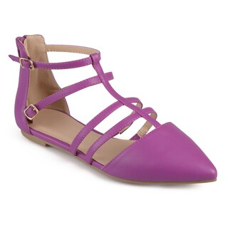 Journee Collection Women's 'Dorsy' Strappy Pointed Toe Flats