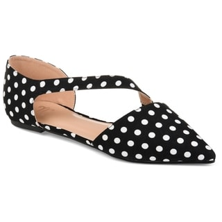 Journee Collection Women's 'Landry' Pointed Toe Cross Strap Flats