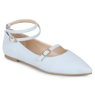 Journee Collection Women's 'Nilly' Ankle Strap Pointed Toe Flats