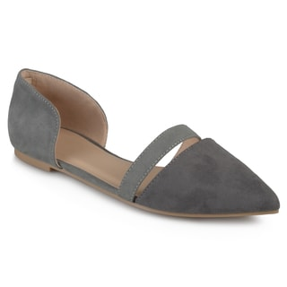 Journee Collection Women's 'Nita' Faux Suede Pointed Toe Flats