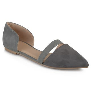 Journee Collection Women's 'Nita' Faux Suede Pointed Toe Flats|https://ak1.ostkcdn.com/images/products/13386106/P20083938.jpg?impolicy=medium