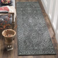 Safavieh Handmade Glamour Contemporary Opal/ Grey Viscose Runner Rug
