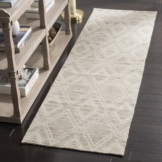 Safavieh Marbella Handmade Vintage Diamond Light Brown/ Ivory Wool Runner (2' 3 x 8')