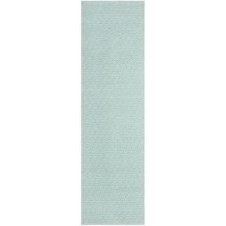 Safavieh Handmade Flatweave Montauk Eliina Casual Cotton Rug (23 x 6 Runner - Ivory/Aqua)