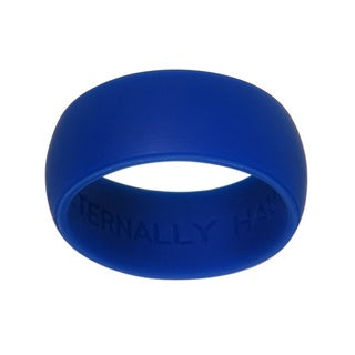 Eternally Haute 9-millimeter Blue Silicone Wedding Band (3 options available)