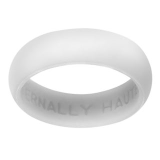 Eternally Haute Women's White Silicone and Metal 5.5-millimeter Wedding Band
