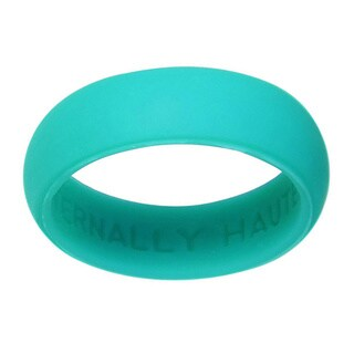 Eternally Haute 5.5 mm Teal Silicone Wedding Band - Green (3 options available)