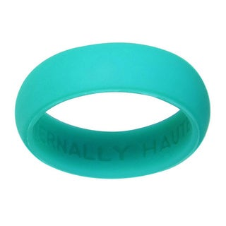 Eternally Haute 5.5 mm Teal Silicone Wedding Band - Green