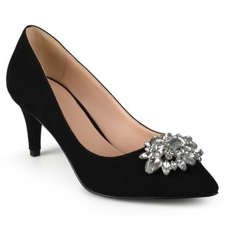 Journee Collection Women's 'Kitt' Pointed Toe Jewel Cluster Pumps