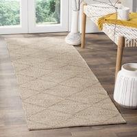Safavieh Hand-Woven Montauk Flatweave Beige Cotton Runner (2' x 7')