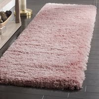 Safavieh Polar Light Pink Shag Runner (2' 3 x 8')
