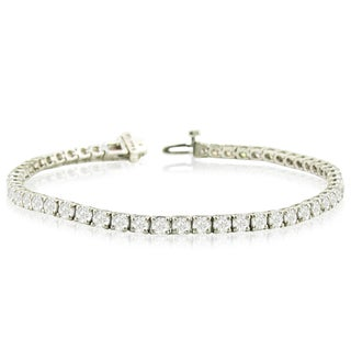 14k White Gold 8ct TDW Round Diamond Tennis Bracelet (More options available)
