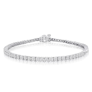 10K White Gold 3 Carat Diamond Tennis Bracelet (J-K, I2-I3)
