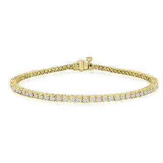 10K Yellow Gold 2 Carat Diamond Tennis Bracelet (J-K, I2-I3)