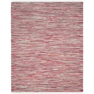 Safavieh Handmade Rag Rug Velija Casual Stripe Cotton Rug (6 x 9 - Red/Multi)