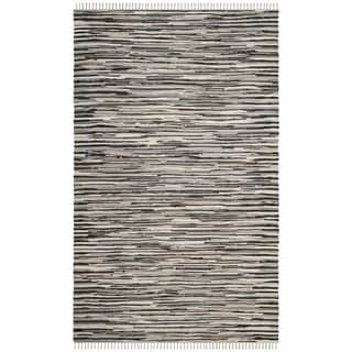Safavieh Handmade Rag Rug Velija Casual Stripe Cotton Rug (3 x 5 - Black/Multi)