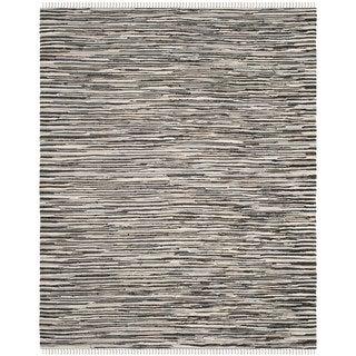 Safavieh Handmade Rag Rug Velija Casual Stripe Cotton Rug (10 x 14 - Black/Multi)