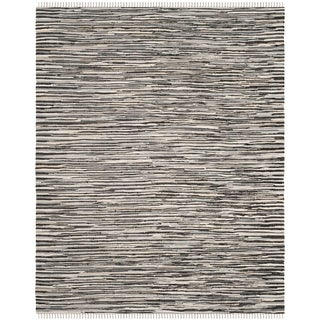 Safavieh Handmade Rag Rug Velija Casual Stripe Cotton Rug (5 x 8 - Black/Multi)