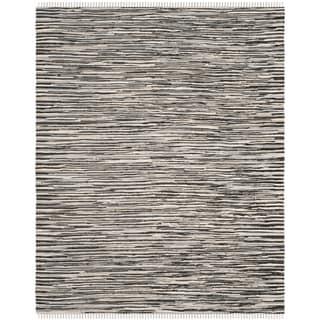 Safavieh Handmade Rag Rug Velija Casual Stripe Cotton Rug (8 x 10 - Black/Multi)