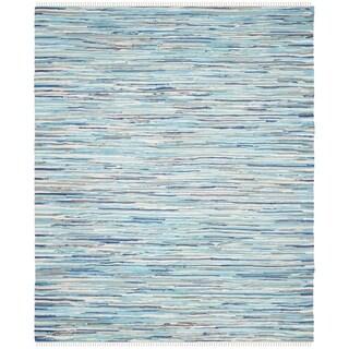 Safavieh Handmade Rag Rug Velija Casual Stripe Cotton Rug (5 x 8 - Turquoise/Multi)