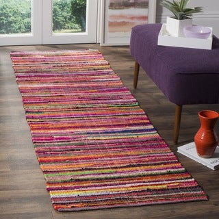 Safavieh Rag Cotton Runner Bohemian Handmade Red/ Multi Cotton Runner (2' 3 x 8')