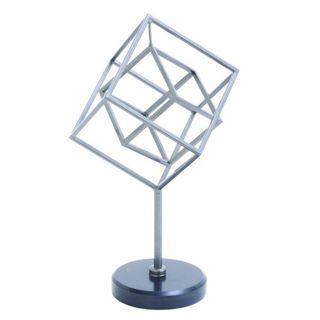 Benzara Silvertone Metal 8-inch-wide 14-inch-high Marble Sculpture