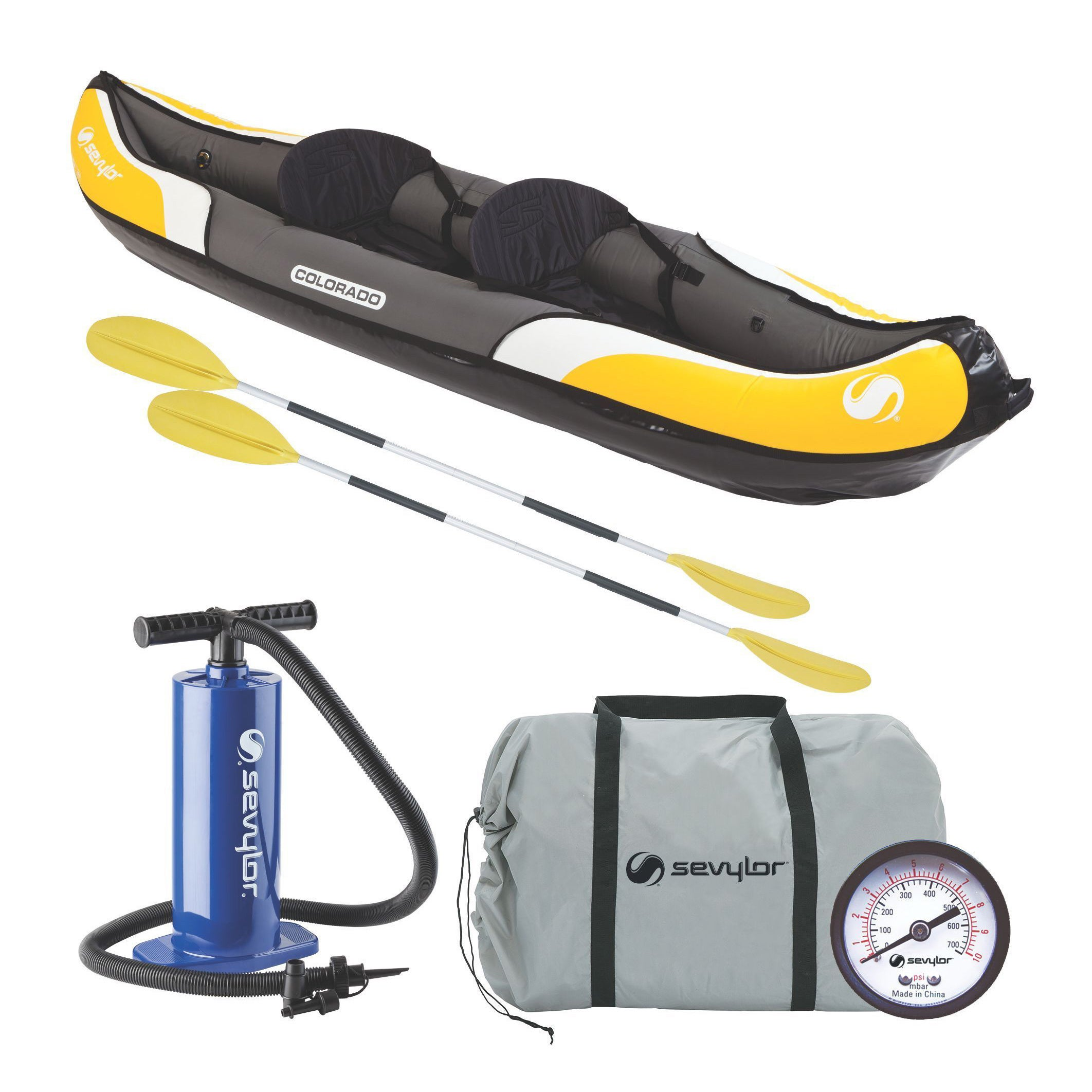 Coleman Sevylor Colorado Multicolor PVC 2-person Kayak Co...