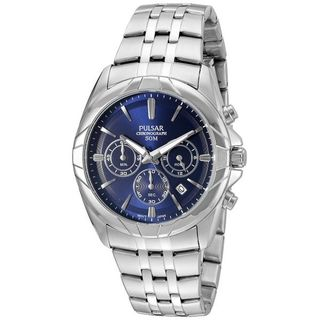 Pulsar Men's 'Chronograph' Quartz Stainless Steel Dress Watch