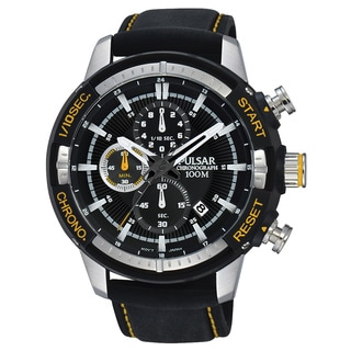 Pulsar Men's 'Chronograph' Quartz Black Dress Watch