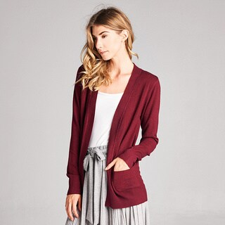 Spicy Mix Raegan Nylon, Polyester, and Viscose Knit Basic Open-front Cardigan (More options available)