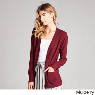 Spicy Mix Raegan Nylon, Polyester, and Viscose Knit Basic Open-front Cardigan (2 options available)
