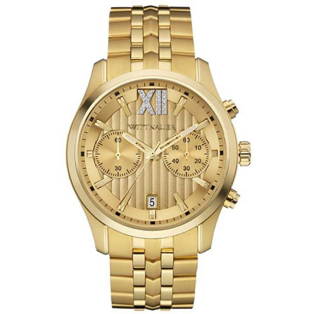 BULOVA Mens Wittnauer Two Face Chronograph Watch (Gold), ...